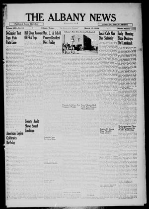 Primary view of object titled 'The Albany News (Albany, Tex.), Vol. 53, No. 24, Ed. 1 Thursday, March 17, 1938'.