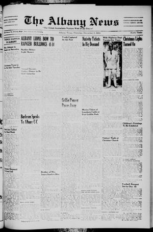 Primary view of object titled 'The Albany News (Albany, Tex.), Vol. 70, No. 12, Ed. 1 Thursday, December 3, 1953'.