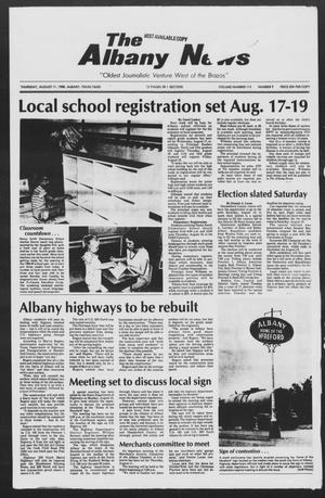 Primary view of object titled 'The Albany News (Albany, Tex.), Vol. 113, No. 9, Ed. 1 Thursday, August 11, 1988'.
