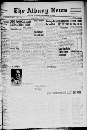 Primary view of object titled 'The Albany News (Albany, Tex.), Vol. 68, No. 41, Ed. 1 Thursday, July 3, 1952'.