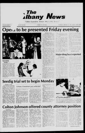 Primary view of object titled 'The Albany News (Albany, Tex.), Vol. 111, No. [35], Ed. 1 Thursday, February 12, 1987'.