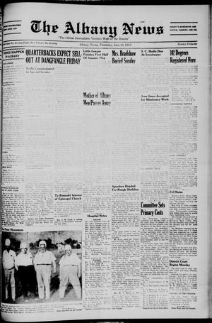 Primary view of object titled 'The Albany News (Albany, Tex.), Vol. 70, No. 41, Ed. 1 Thursday, June 24, 1954'.