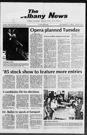 Primary view of object titled 'The Albany News (Albany, Tex.), Vol. 109, No. 37, Ed. 1 Thursday, February 28, 1985'.