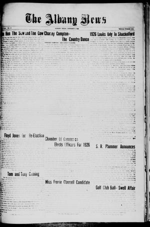 Primary view of object titled 'The Albany News (Albany, Tex.), Vol. 42, No. 17, Ed. 1 Friday, January 8, 1926'.