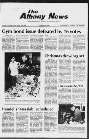 Primary view of object titled 'The Albany News (Albany, Tex.), Vol. 110, No. 24, Ed. 1 Thursday, November 28, 1985'.