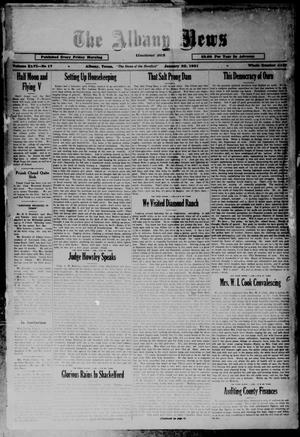 Primary view of object titled 'The Albany News (Albany, Tex.), Vol. 46, No. 17, Ed. 1 Friday, January 30, 1931'.