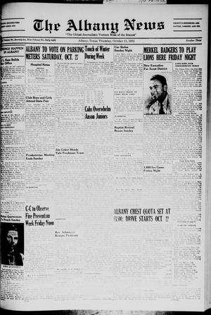 Primary view of object titled 'The Albany News (Albany, Tex.), Vol. 68, No. 3, Ed. 1 Thursday, October 11, 1951'.
