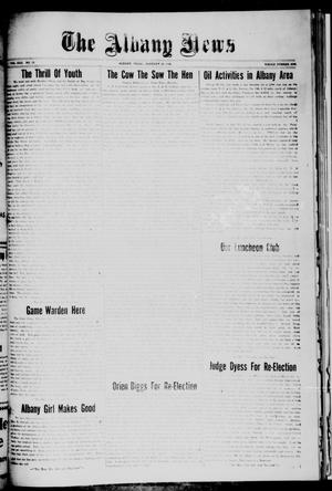 Primary view of object titled 'The Albany News (Albany, Tex.), Vol. 42, No. 19, Ed. 1 Friday, January 22, 1926'.
