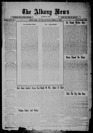 Primary view of object titled 'The Albany News (Albany, Tex.), Vol. 46, No. 1, Ed. 1 Friday, October 11, 1929'.