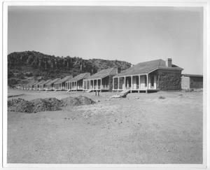 Primary view of object titled '[Photograph of Row of Houses]'.