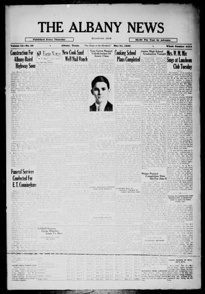 Primary view of object titled 'The Albany News (Albany, Tex.), Vol. 51, No. 33, Ed. 1 Thursday, May 21, 1936'.
