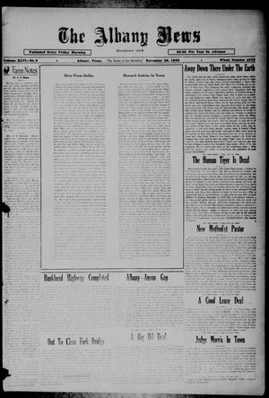Primary view of object titled 'The Albany News (Albany, Tex.), Vol. 46, No. 8, Ed. 1 Friday, November 29, 1929'.