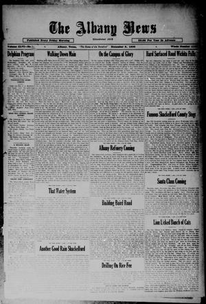 Primary view of object titled 'The Albany News (Albany, Tex.), Vol. 46, No. [9], Ed. 1 Friday, December 5, 1930'.