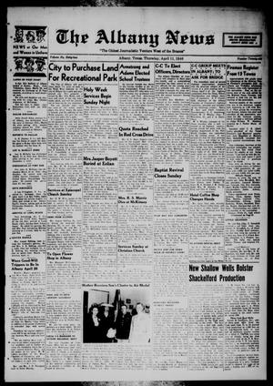 Primary view of object titled 'The Albany News (Albany, Tex.), Vol. 62, No. 26, Ed. 1 Thursday, April 11, 1946'.
