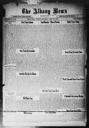 Primary view of object titled 'The Albany News (Albany, Tex.), Vol. 46, No. 29, Ed. 1 Friday, April 24, 1931'.