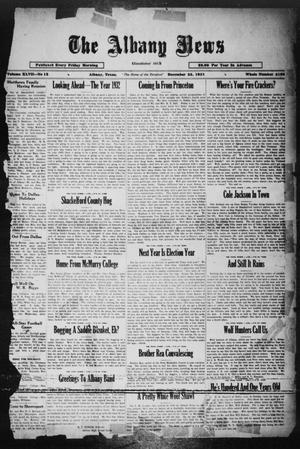Primary view of object titled 'The Albany News (Albany, Tex.), Vol. 47, No. 12, Ed. 1 Friday, December 25, 1931'.