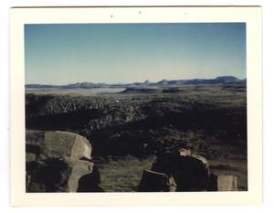 Primary view of object titled '[Photograph Overlooking Fort Davis #2]'.