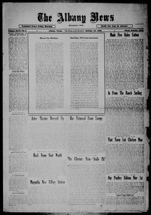 Primary view of object titled 'The Albany News (Albany, Tex.), Vol. 46, No. 2, Ed. 1 Friday, October 18, 1929'.