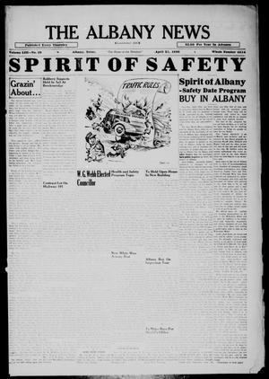 Primary view of object titled 'The Albany News (Albany, Tex.), Vol. 53, No. 29, Ed. 1 Thursday, April 21, 1938'.