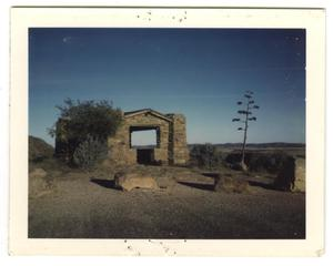 Primary view of object titled '[Photograph of Look-out Tower at Fort Davis]'.