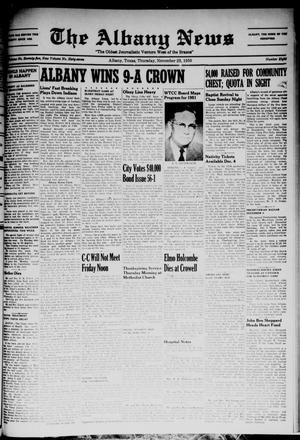 Primary view of object titled 'The Albany News (Albany, Tex.), Vol. 67, No. 8, Ed. 1 Thursday, November 23, 1950'.