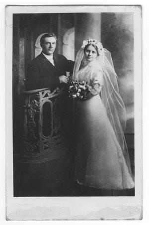 Primary view of object titled '[Wedding Photograph of Charley and Mary Bishop]'.
