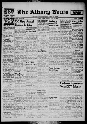 Primary view of object titled 'The Albany News (Albany, Tex.), Vol. 62, No. 28, Ed. 1 Thursday, April 25, 1946'.