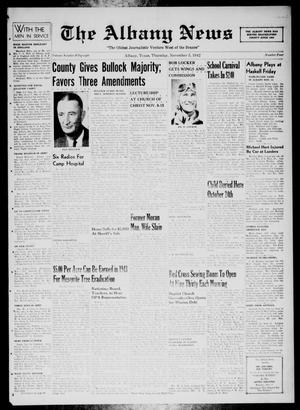 Primary view of object titled 'The Albany News (Albany, Tex.), Vol. 58, No. 4, Ed. 1 Thursday, November 5, 1942'.