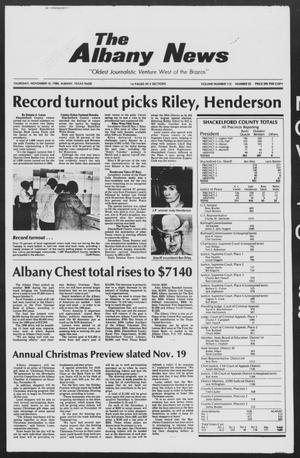 Primary view of object titled 'The Albany News (Albany, Tex.), Vol. 113, No. 22, Ed. 1 Thursday, November 10, 1988'.