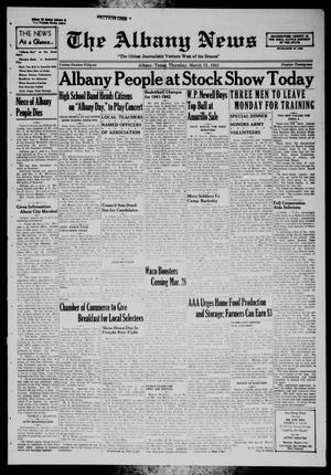 Primary view of object titled 'The Albany News (Albany, Tex.), Vol. 56, No. 22, Ed. 1 Thursday, March 13, 1941'.