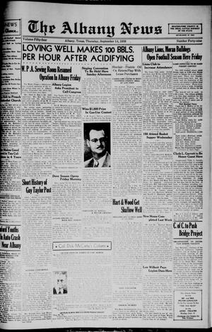 Primary view of The Albany News (Albany, Tex.), Vol. 54, No. 49, Ed. 1 Thursday, September 14, 1939