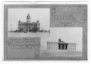 Primary view of object titled '[Presidio County Court House & Marfa High School]'.