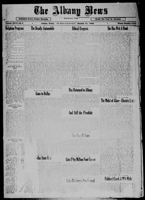 Primary view of object titled 'The Albany News (Albany, Tex.), Vol. 46, No. 2, Ed. 1 Friday, October 17, 1930'.