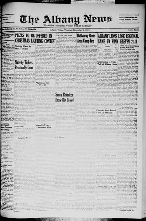 Primary view of object titled 'The Albany News (Albany, Tex.), Vol. 68, No. 11, Ed. 1 Thursday, December 6, 1951'.