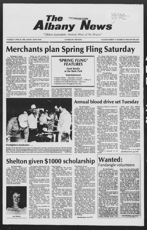 Primary view of object titled 'The Albany News (Albany, Tex.), Vol. 112, No. 46, Ed. 1 Thursday, April 28, 1988'.