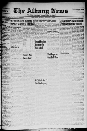 Primary view of object titled 'The Albany News (Albany, Tex.), Vol. 67, No. 6, Ed. 1 Thursday, November 9, 1950'.