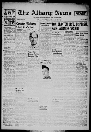 Primary view of object titled 'The Albany News (Albany, Tex.), Vol. 61, No. 8, Ed. 1 Thursday, December 7, 1944'.