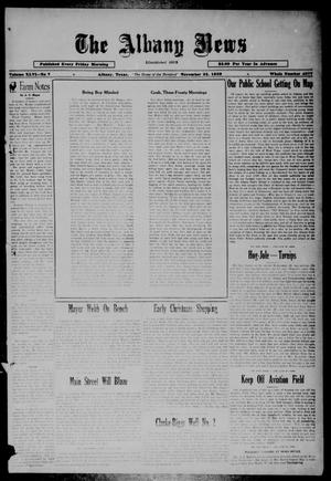 Primary view of object titled 'The Albany News (Albany, Tex.), Vol. 46, No. 7, Ed. 1 Friday, November 22, 1929'.