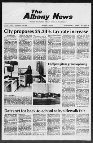 Primary view of object titled 'The Albany News (Albany, Tex.), Vol. 110, No. 7, Ed. 1 Thursday, August 1, 1985'.