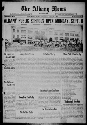 Primary view of object titled 'The Albany News (Albany, Tex.), Vol. 46, No. 47, Ed. 1 Friday, August 29, 1930'.