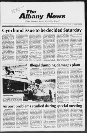 Primary view of object titled 'The Albany News (Albany, Tex.), Vol. 110, No. 23, Ed. 1 Thursday, November 21, 1985'.