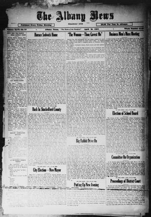 Primary view of object titled 'The Albany News (Albany, Tex.), Vol. 46, No. 27, Ed. 1 Friday, April 10, 1931'.