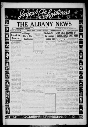Primary view of object titled 'The Albany News (Albany, Tex.), Vol. 52, No. 10, Ed. 1 Thursday, December 10, 1936'.
