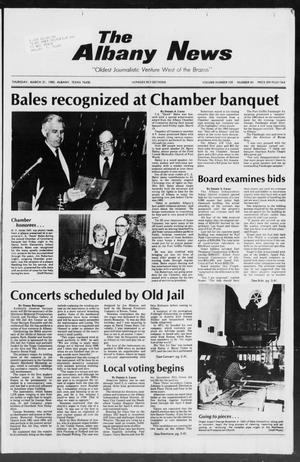 Primary view of object titled 'The Albany News (Albany, Tex.), Vol. 109, No. 40, Ed. 1 Thursday, March 21, 1985'.