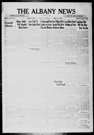 Primary view of object titled 'The Albany News (Albany, Tex.), Vol. 52, No. 37, Ed. 1 Thursday, June 17, 1937'.