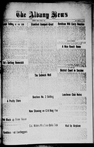 Primary view of object titled 'The Albany News (Albany, Tex.), Vol. 42, No. 42, Ed. 1 Friday, July 2, 1926'.