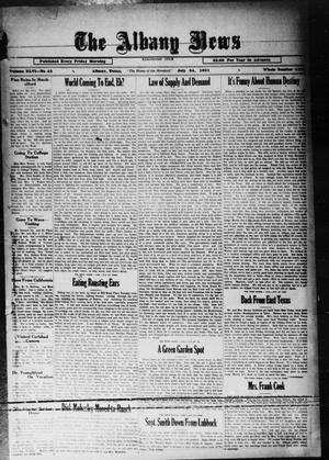 Primary view of object titled 'The Albany News (Albany, Tex.), Vol. 46, No. 42, Ed. 1 Friday, July 24, 1931'.