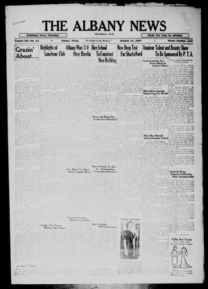 Primary view of object titled 'The Albany News (Albany, Tex.), Vol. 52, No. 54, Ed. 1 Thursday, October 14, 1937'.