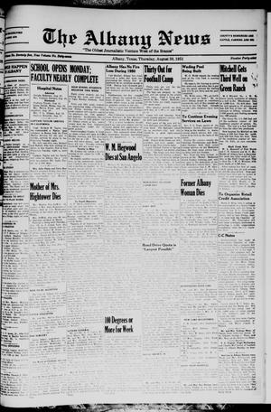 Primary view of object titled 'The Albany News (Albany, Tex.), Vol. 67, No. 49, Ed. 1 Thursday, August 30, 1951'.