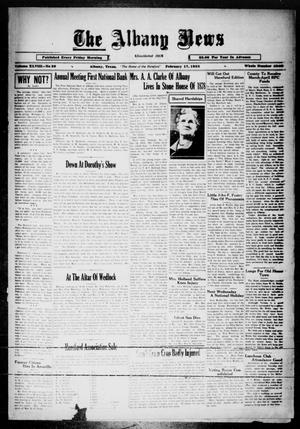 Primary view of object titled 'The Albany News (Albany, Tex.), Vol. 48, No. 20, Ed. 1 Friday, February 17, 1933'.